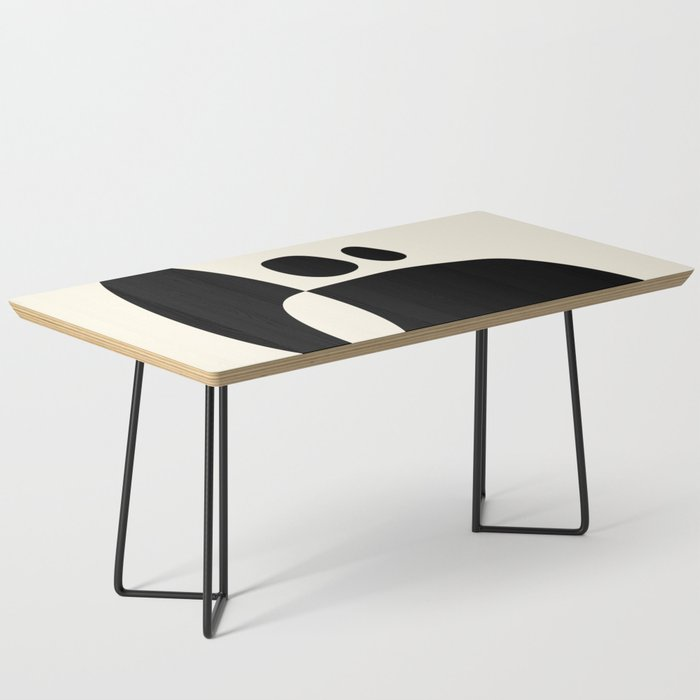 shapes black white minimal abstract art Coffee Table