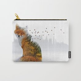 Wild I Shall Stay   Fox Carry-All Pouch