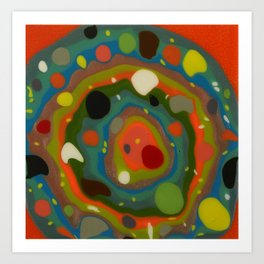 Untitled, orange drips Art Print