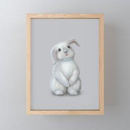 White Rabbit Boy Framed Mini Art Print