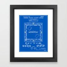 Monopoly Patent - Blueprint Framed Art Print