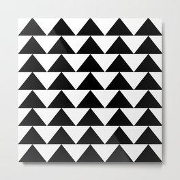 Black & White Triangles Metal Print