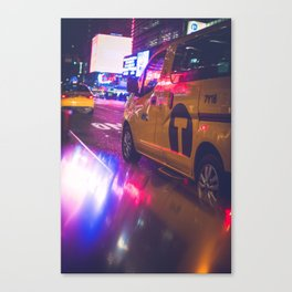 Taxi NYC Life (Color) Canvas Print