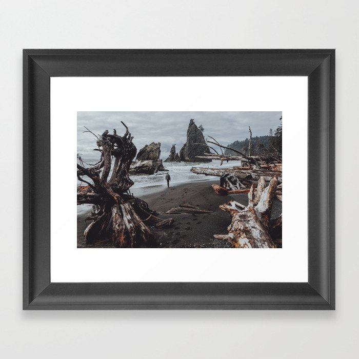 Olympic Coastline Framed Art Print