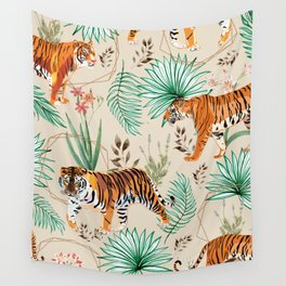 Tropical & Tigers Wall Tapestry