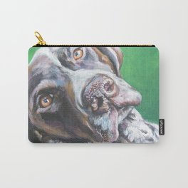 GSP German Shorthaired Pointer dog portrait art from an original painting by L.A.Shepard Carry-All Pouch