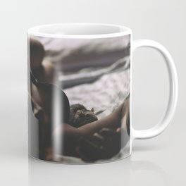 Hot sexy girl big cute breat in bed Coffee Mug