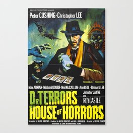 House of Horrors, vintage horror movie poster, Doctor Terror´s Canvas Print