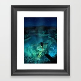 The Universe Below Framed Art Print