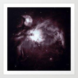 Slate Gray Orion Nebula Art Print