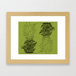 Jordy Likes Pineapples Framed Art Print
