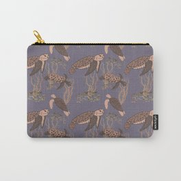 Sea Turtles and Seaweed  Carry-All Pouch