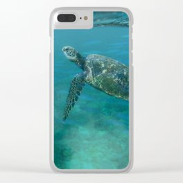 Sea Turtle with Posse Clear iPhone Case