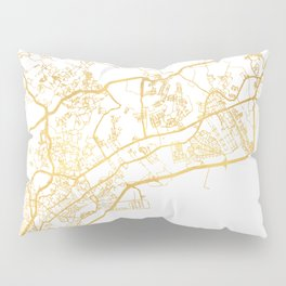 PANAMA CITY STREET MAP ART Pillow Sham