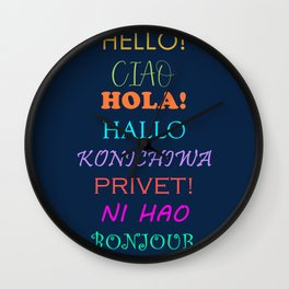 Hello in Languages Wall Clock