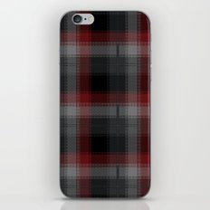 Black, Red, Lumberjack Plaid iPhone & iPod Skin