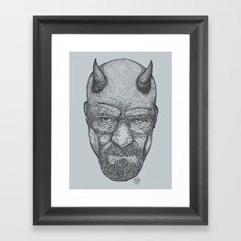Mr. White? He's the Devil. (Blue Colorway) Framed Art Print