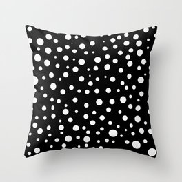Dots Black and White Pattern Throw Pillow
