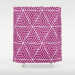 Jazzberry jam- violet - Geometric Seamless Triangles Pattern Shower Curtain