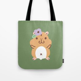 Hamster and Flower Tote Bag
