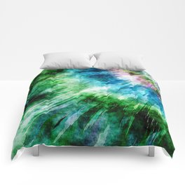 Abstract Grunge Tie Dye Comforters