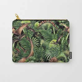 Watercolor Dinosaurs Carry-All Pouch