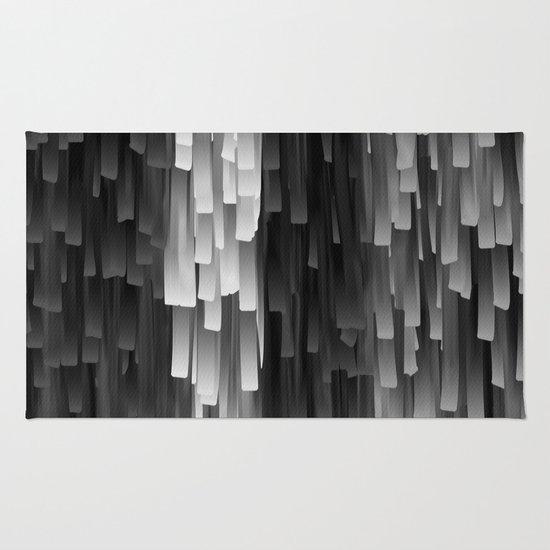 Black And White Tassel Rug: Fringe (Black And White) Rug By Jacqueline Maldonado