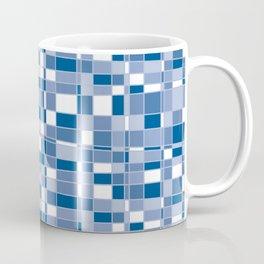 Mod Gingham - Blue Coffee Mug