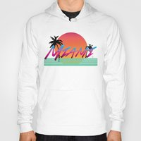 miami Hoodies featuring Miami by TH Graphic Designs