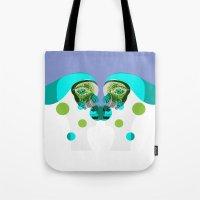 gemini Tote Bags featuring Gemini by Akwaflorell