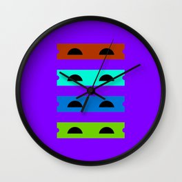Teenage Minimal Ninja Turtles Wall Clock