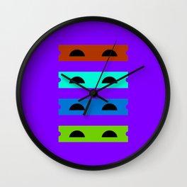 Teenage Minimal Ninja Turtles Wall Clock