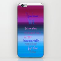 dr seuss iPhone & iPod Skins featuring Dr. Seuss Quote by Laura Santeler