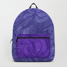 Monstera leaves - Ultra Violet and Lilac Backpack
