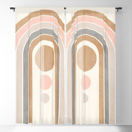 Geometric Abstract 88 Blackout Curtain