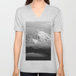 Marvelous Mount Rainier Unisex V-Neck