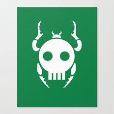 Skull Bugs Canvas Print