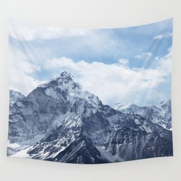 Snowy Mountain Peaks Wall Tapestry