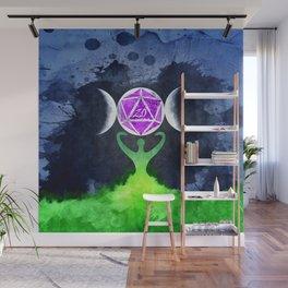 D20 Triple moon Druid Wall Mural