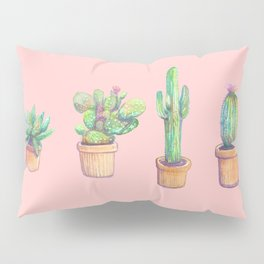 cactus on orange pockets collab franciscomffonseca Pillow Sham