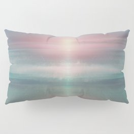 """""""Pink sky over blue sea Sunset"""" Pillow Sham"""