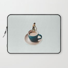 Swimming in coffee Laptop Sleeve