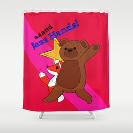 aaand Jazz Hands! Shower Curtain