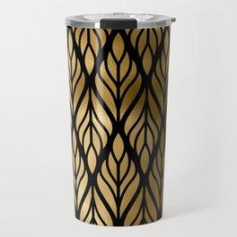 Havana Sultry Night Gold and Black Art Deco Travel Mug