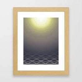 Shining Waves Framed Art Print