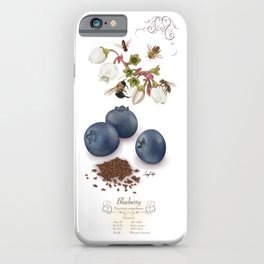 Blueberry and Pollinators iPhone Case