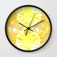 botanical Wall Clocks featuring Botanical by Ingrid Castile
