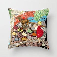 Urban Sightings Collage Detail 1 Throw Pillow