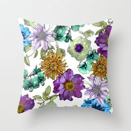 Botanical Haze Throw Pillow