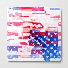 Messed Up American Flag Metal Print